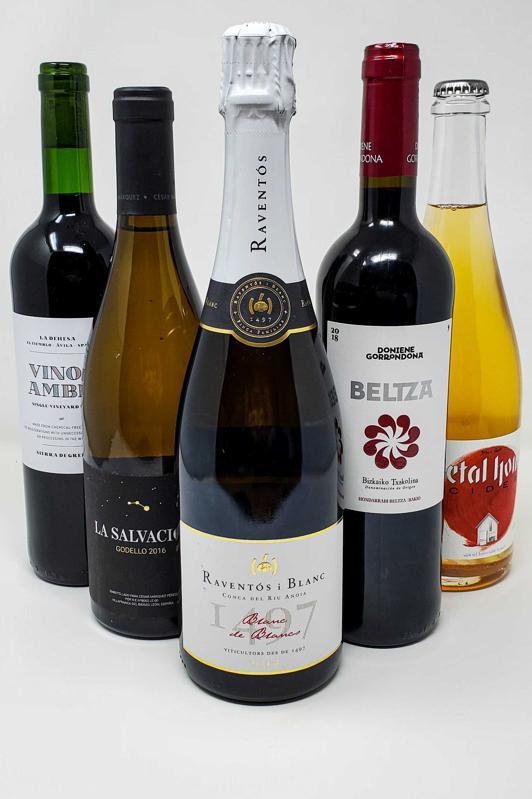 Bottles of wines from Huertas