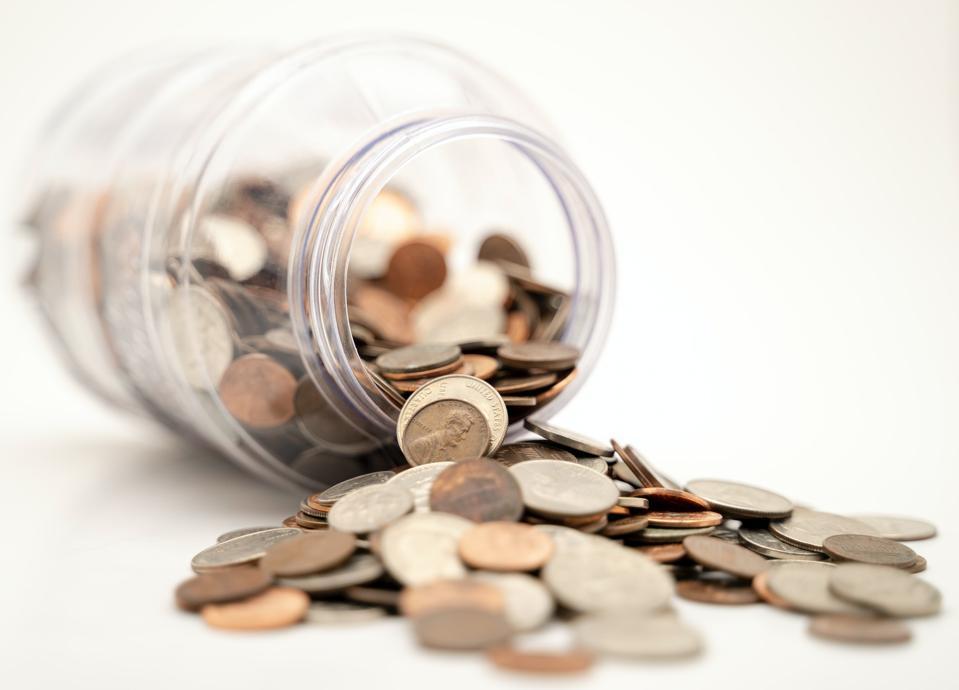 Pièces qui sortent du pot - finances personnelles.