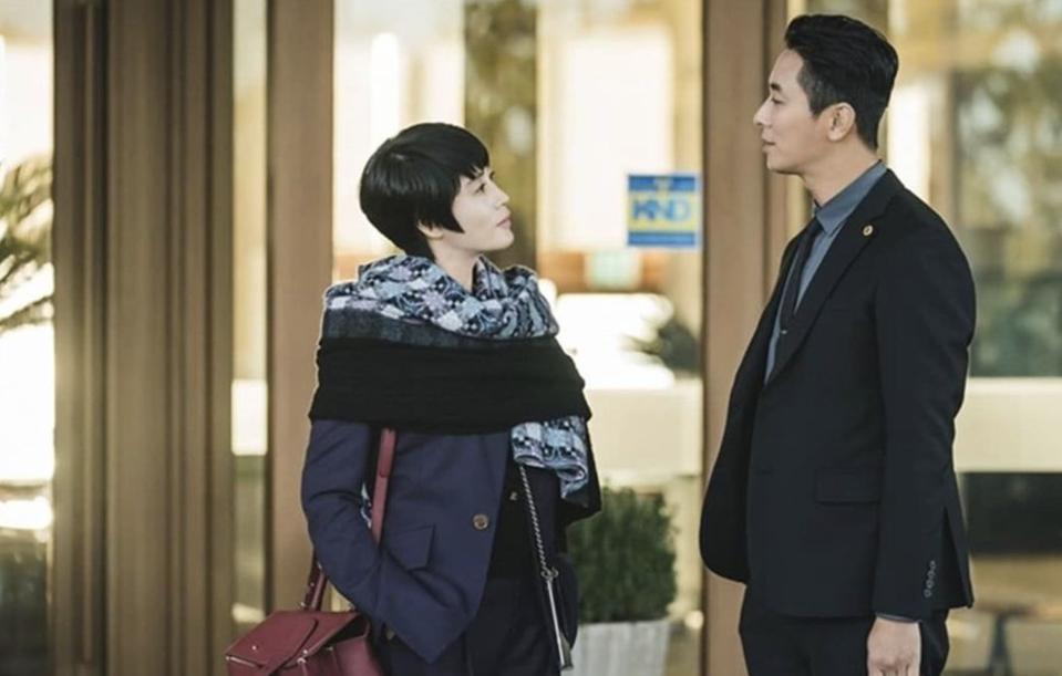 The legal drama 'Hyena' starred Kim Hye-soo and Ju Ji-hoon.