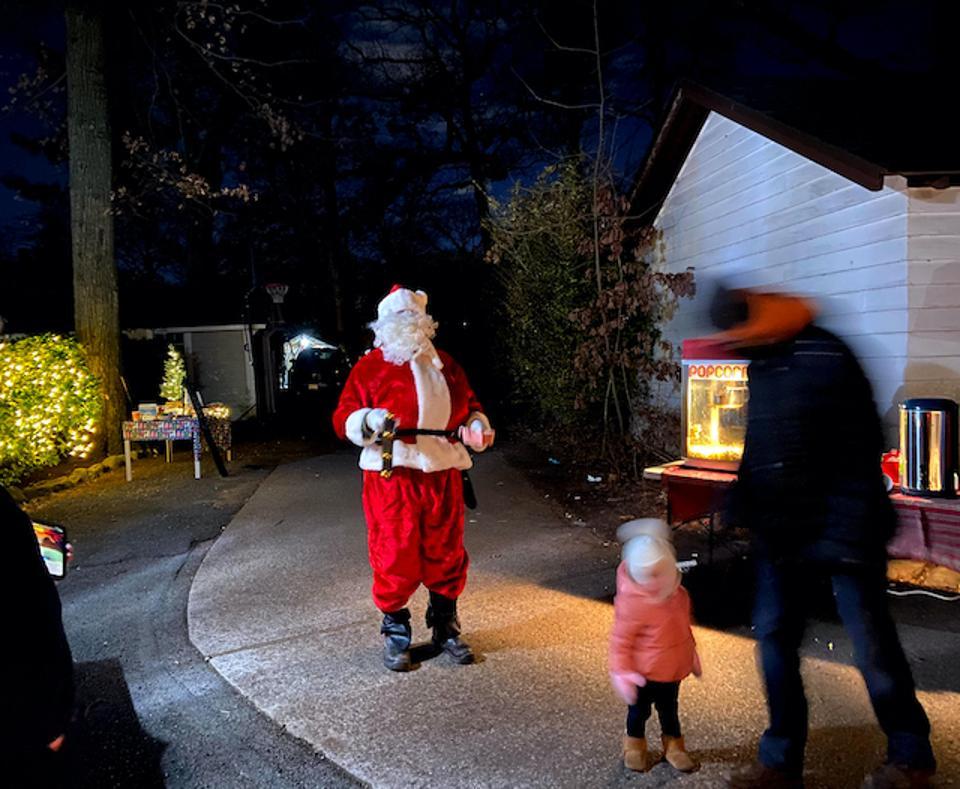 Santa arrives on the Back Road