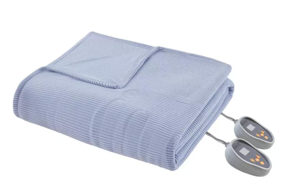 Beautyrest Knitted Electric Micro Fleece Heated Blanket (Queen)