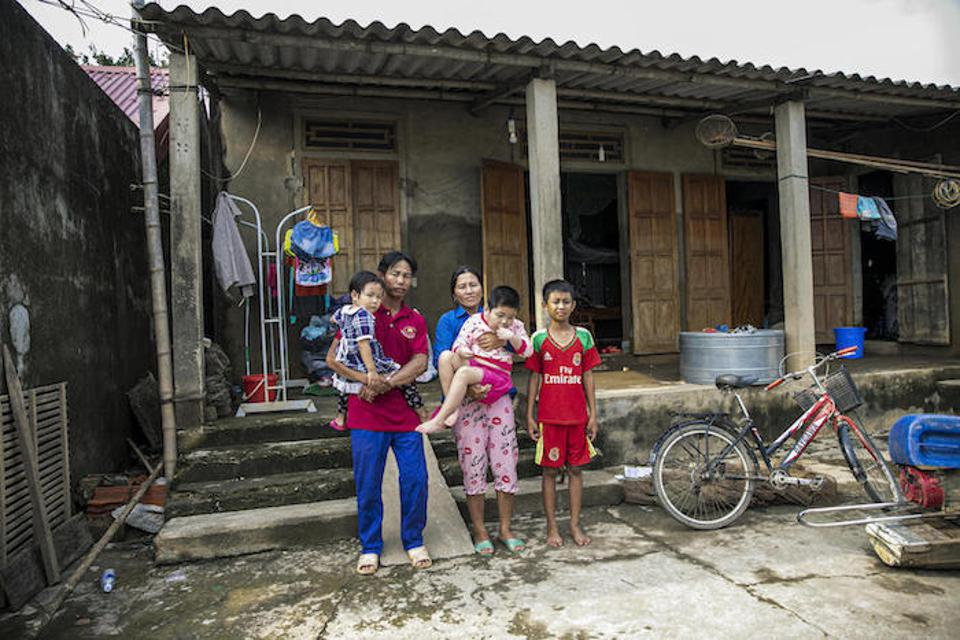 The Nguyen family spent three days in their attic with very little food or water during the recent floods in Vietnam.