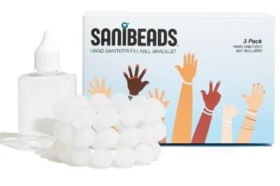 hand sanitizer filled bracelets