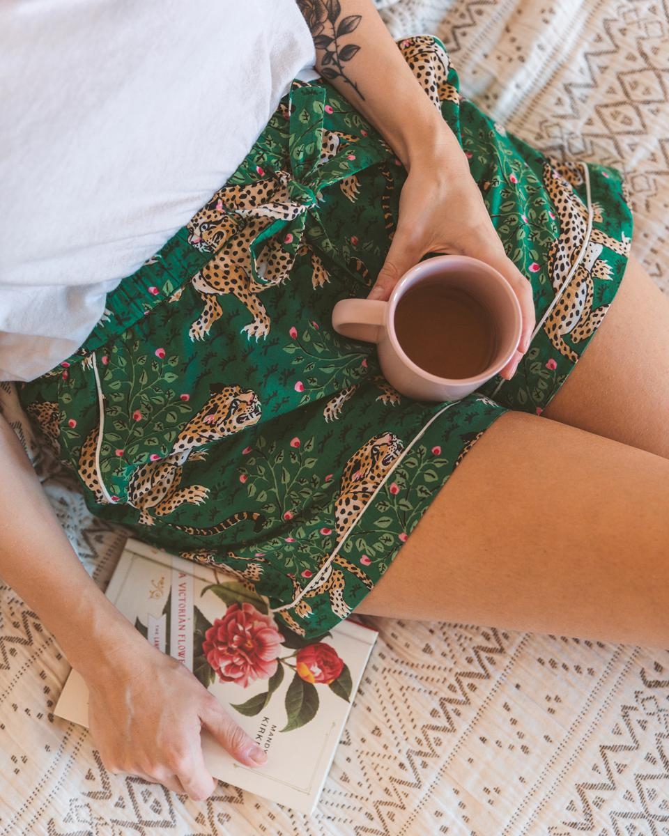 Bagheera Shorts in Forest by PRINTFRESH