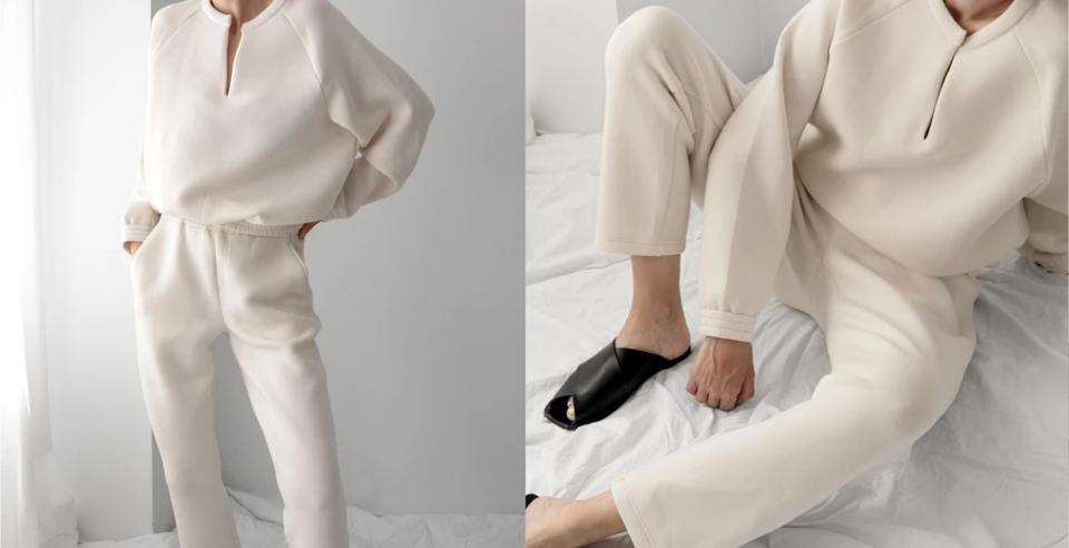 The Kendal Pant and Athena Sweater from LEZE THE LABLE