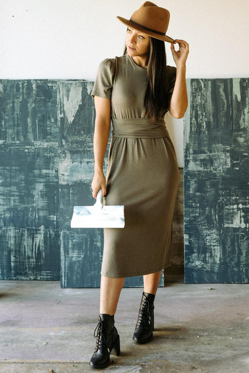 The Essential Belted Dress from LONDRE