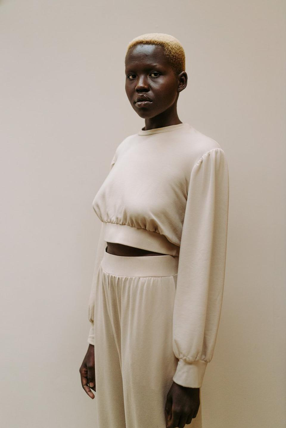 The Essential Pant and Cropped Sweater are key pieces from LONDRE's Loungewear Line.