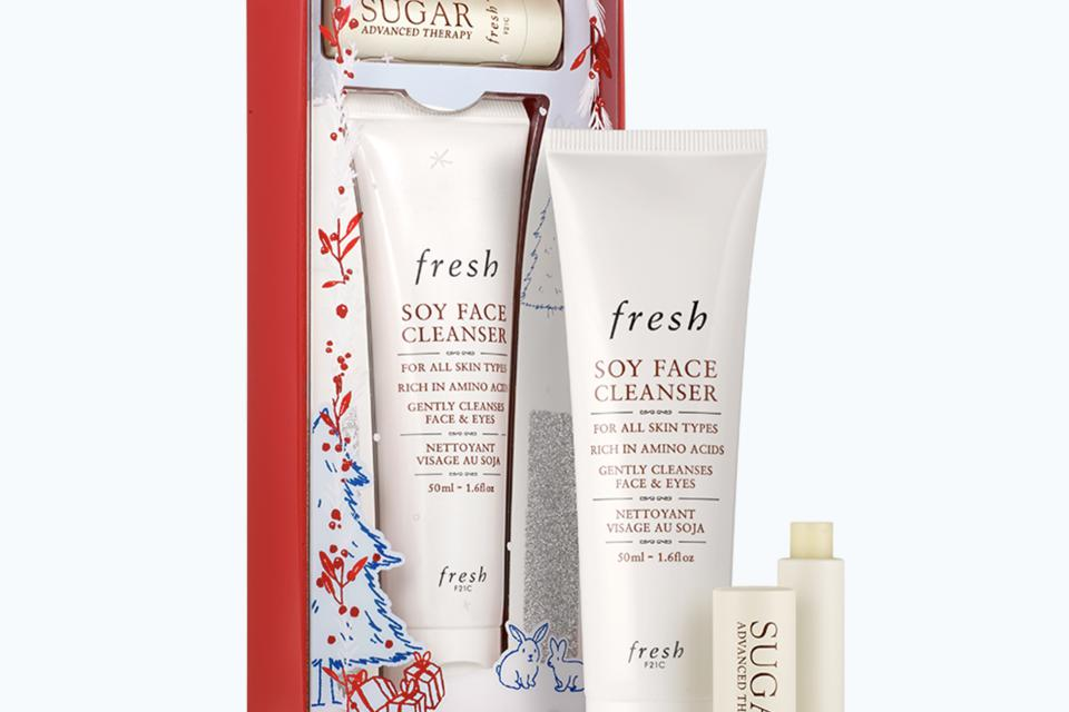 Best Sellers Mini Kit (Soy Face Cleanser & Sugar Lip Treatment Advanced Therapy) by Fresh