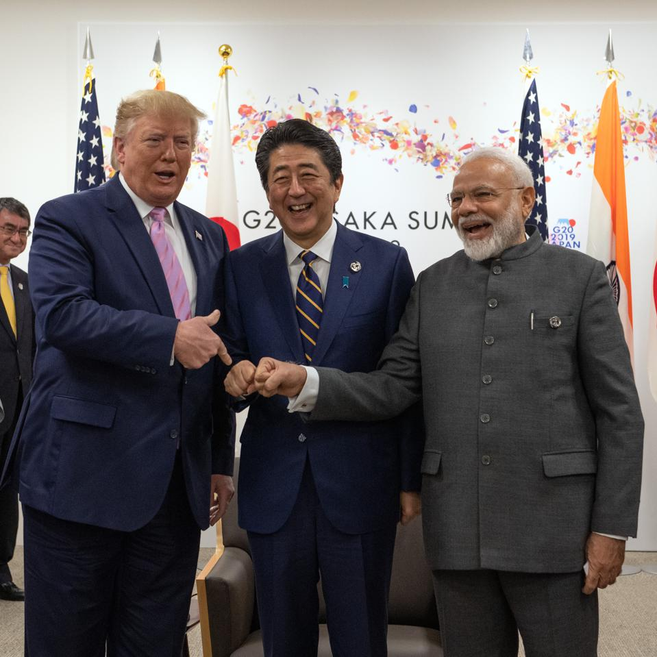 28 Jun 2020: U.S President Donald Trump, Japan's Prime Minister Shinzo Abe, and India's Prime Minister, Narendra Modi built a strong military, geopolitical and energy partnership during their terms in office.