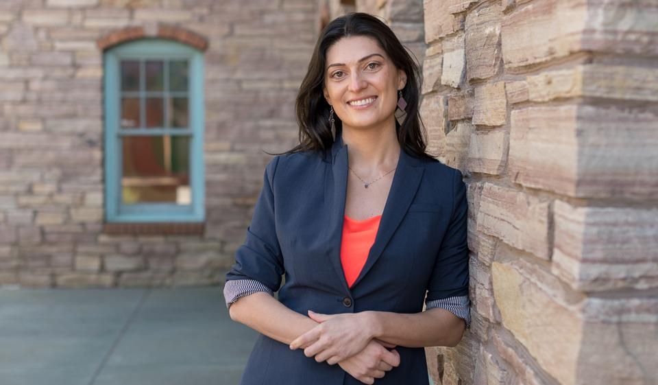 Here is a photo of university professor Narine Hall.