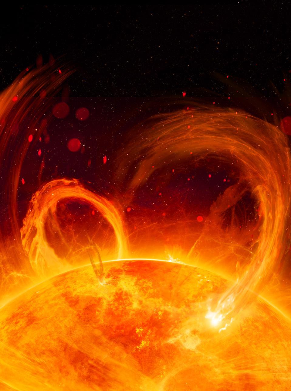 Solar Flare Illustration