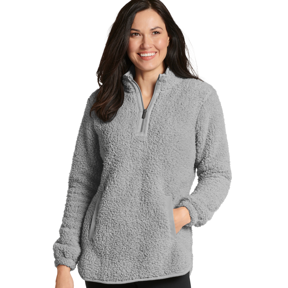 The Jockey® Sherpa Half Zip is extremely light, incredibly warm, and infinitely cuddly. Its soft, fluffy texture makes it perfect for active days outdoors or inactive days curled up on the sofa