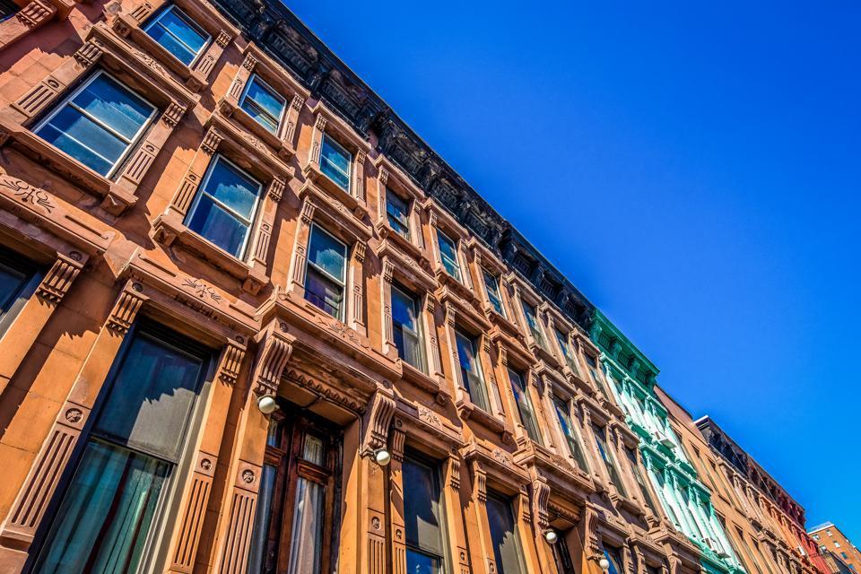 East Side residential brownstones