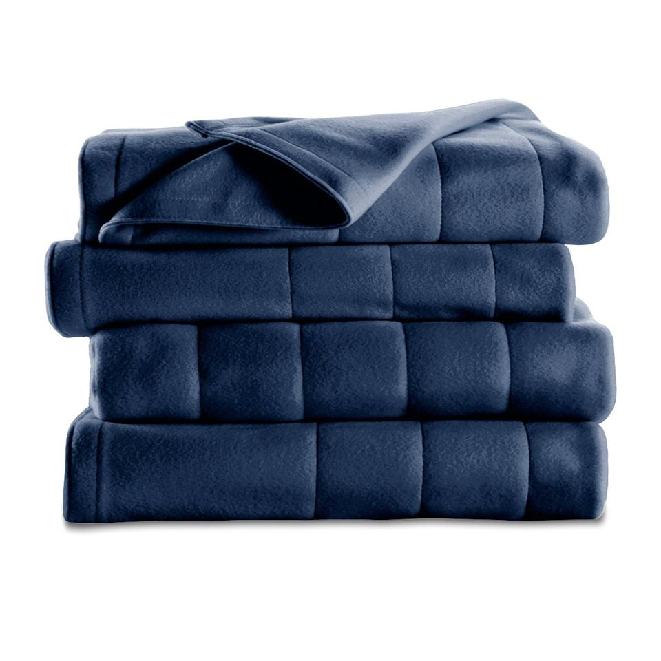 Sunbeam Heated Fleece Blanket, Queen, Slate