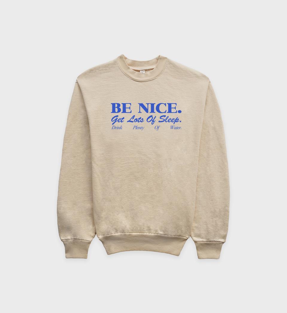 Sporty & Rich Be Nice Crew Sweatshirt