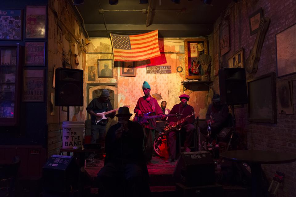 Live Blues at Club in Beale Street, Memphis