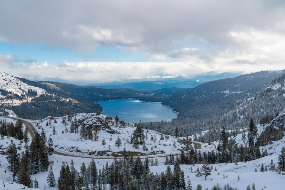 The Donner lake, California