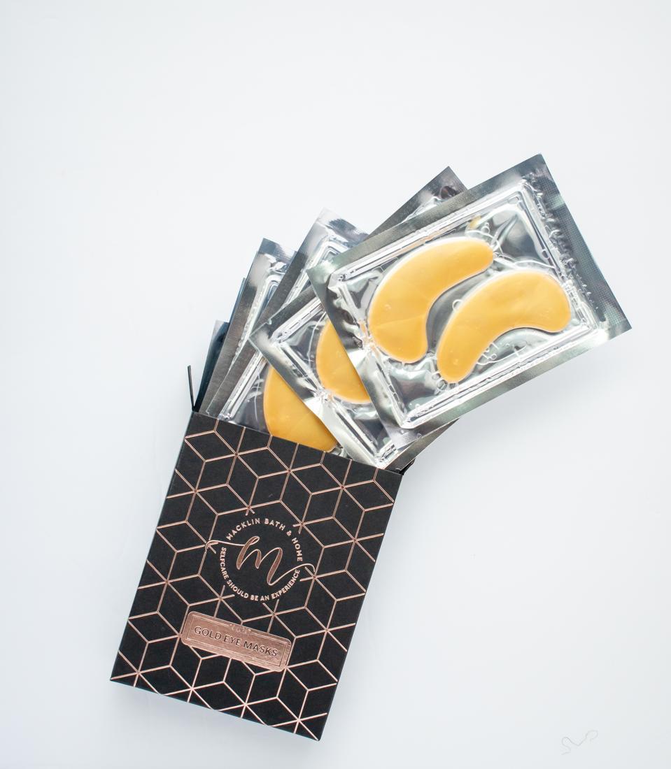Gold-infused skincare gifts Macklin Bath & Home 14k Gold Eye Masks