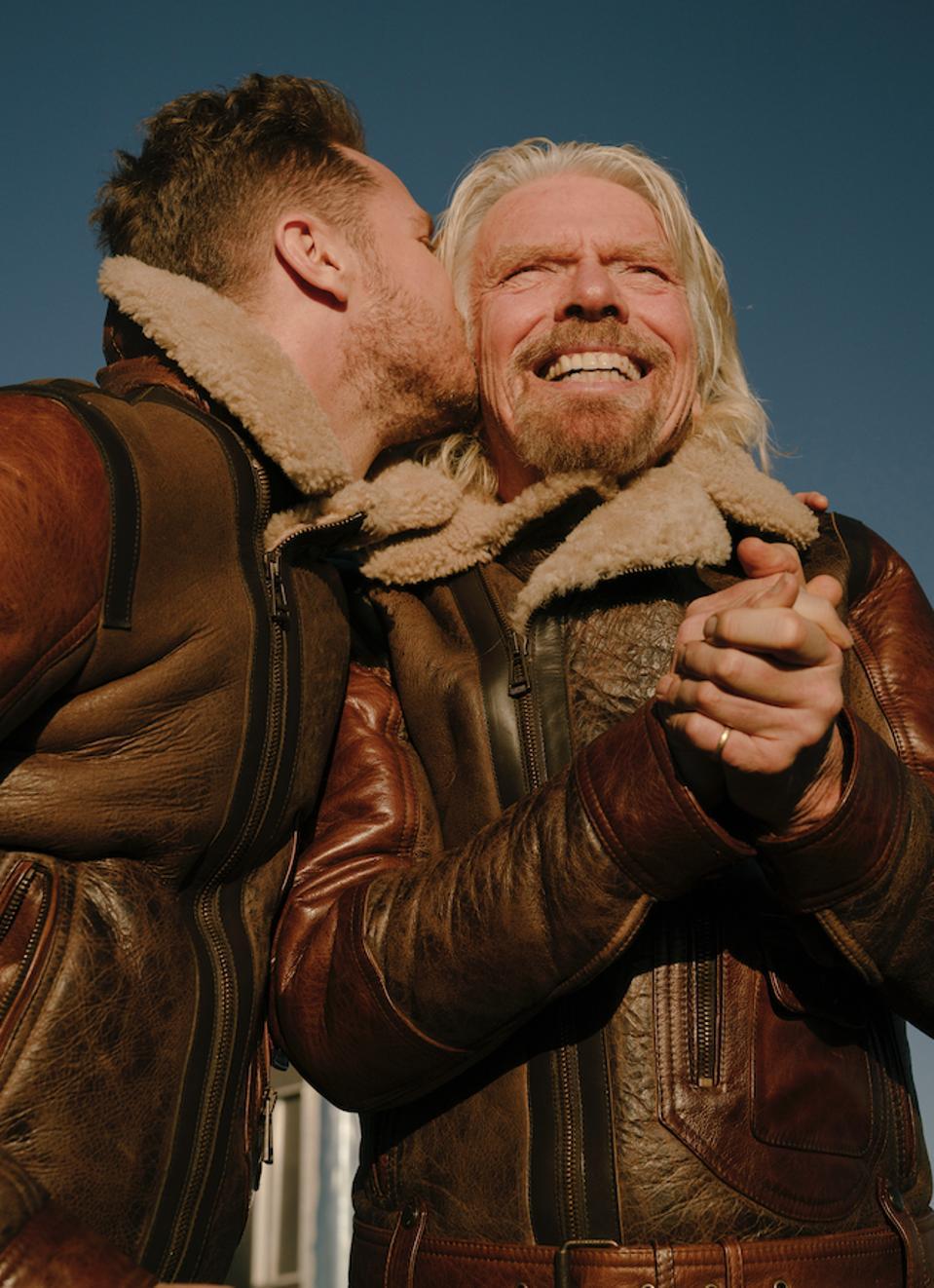Sir Richard Branson with his son, Sam Branson