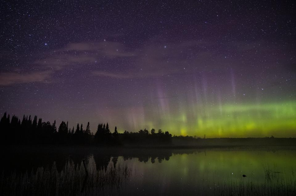 Northern Lights over Minnesota skies