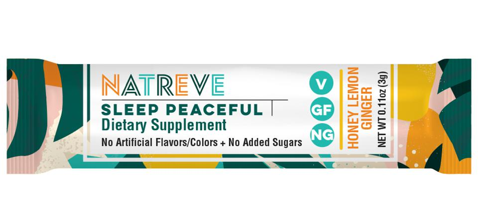 One Natreve sleep peaceful supplement stick against a white backdrop.