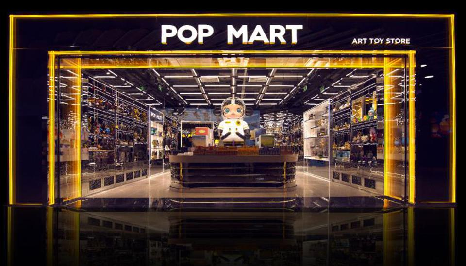 A Pop Mart retail store featuring the Molly doll