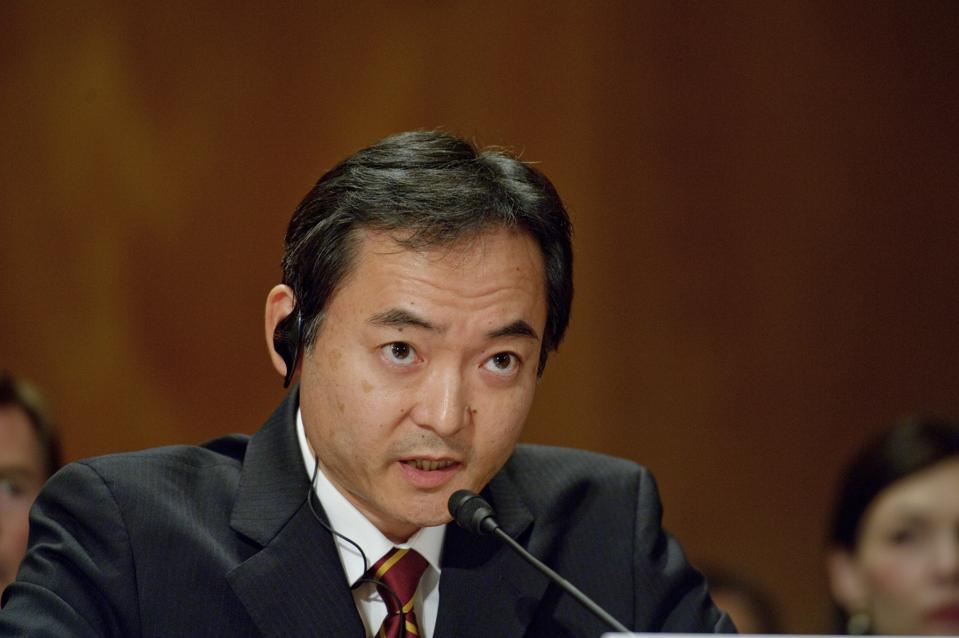 July 22 2012: Naoki Ishii, President  of Mitsui's 'MOEX Offshore 2007 LLC,' during the Senate Hearings on the Deepwater Horizon incident. Mitsui held 10% of the oil field through its oil exploration company, MOEX Offshore.