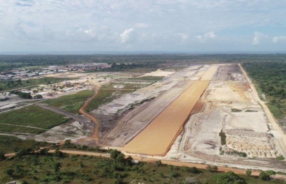 Mitsui is an investor in the $16 billion Mozambique LNG project.  Seen here,  Afungi airstrip, Mozambique.