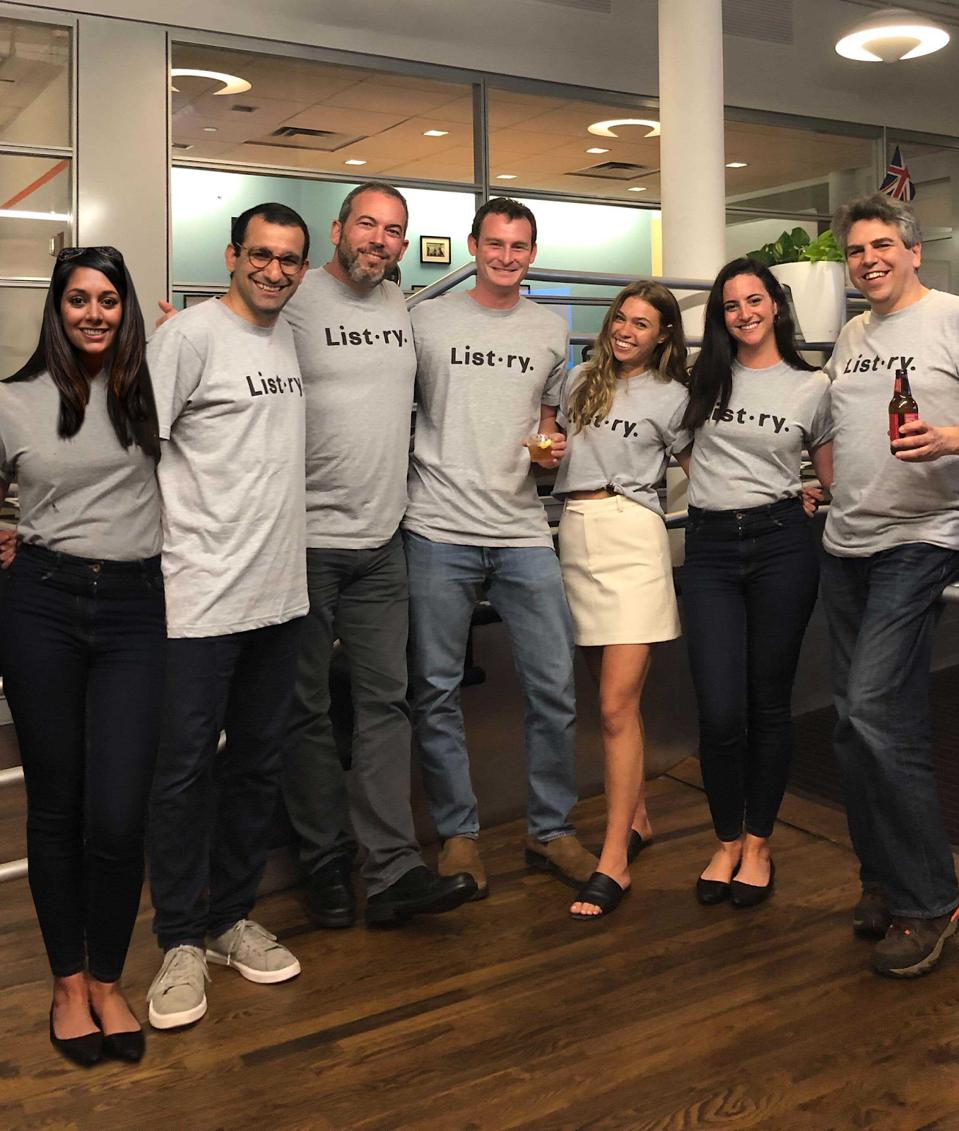 Listory team. CEO Yaniv Gilad, second from left.