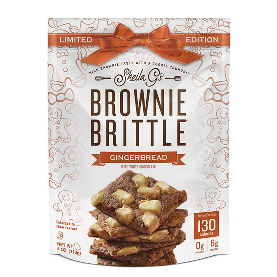 Sheila G's HOLIDAY GINGERBREAD BROWNIE BRITTLE WITH WHITE CHOCOLATE