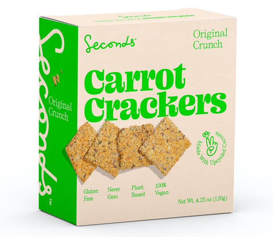 Seconds Carrot Crackers Original Crunch Beth Stockli Kennedy Philip Crouse gluten free