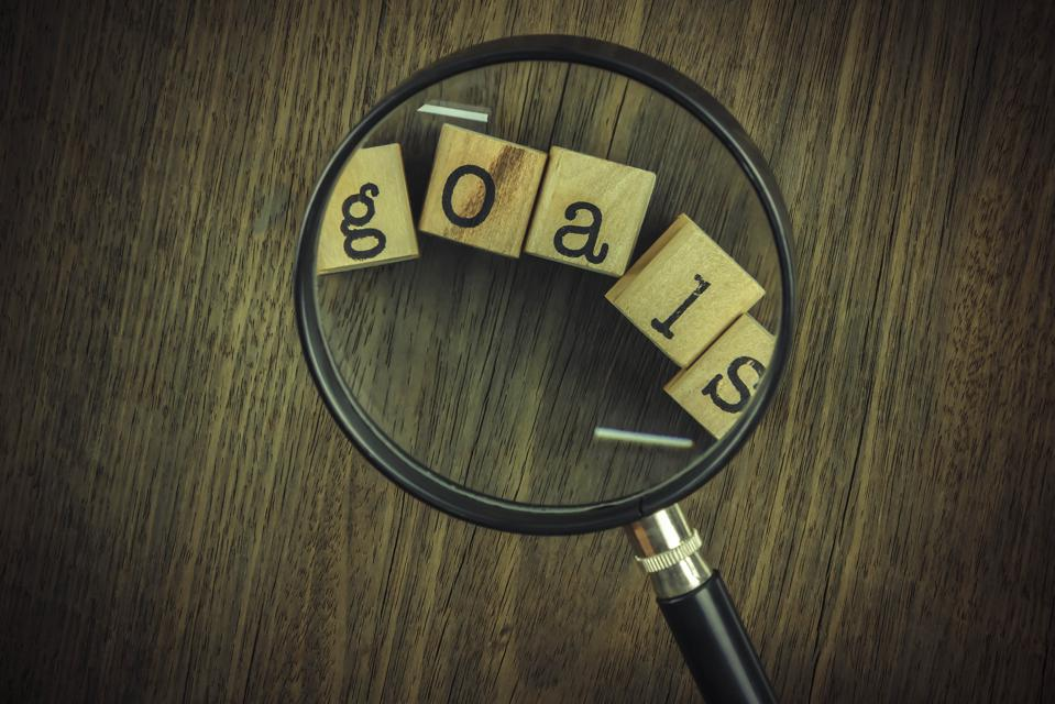 Goals setting strategy for business management.