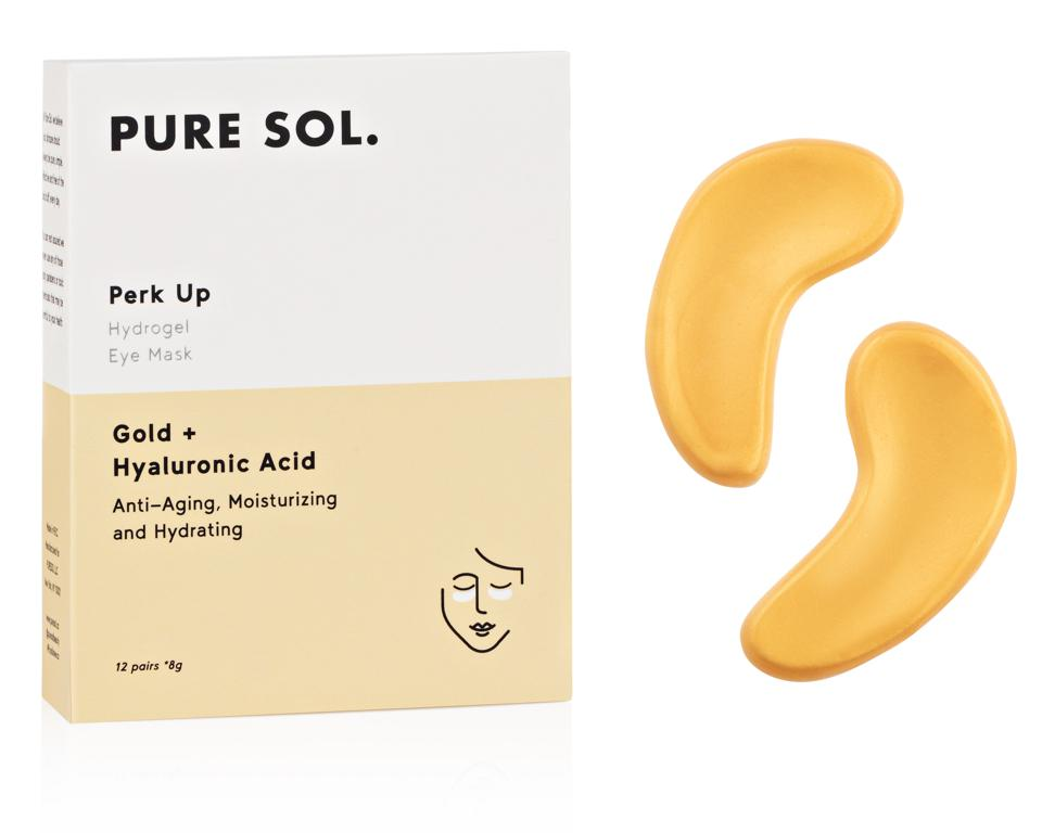 Gold Infused Skin Care Gifts Pure Sol Perk Up Gold Eye Masks