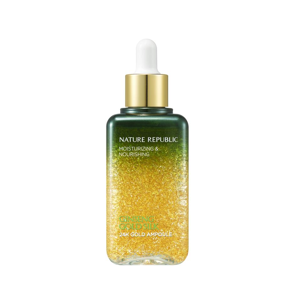 Gold-infused skincare gifts Nature Republic Ginseng Gold Silk 24k Gold Ampoule