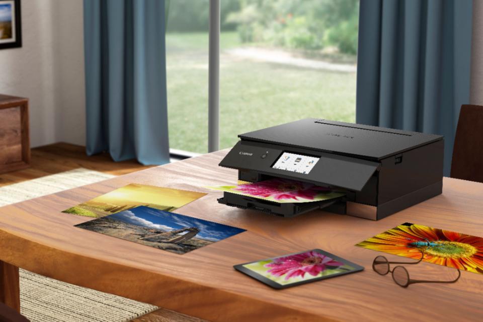 Canon Pixma TS8320 photo printer in black