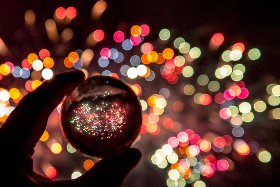 Fireworks and a crystal ball
