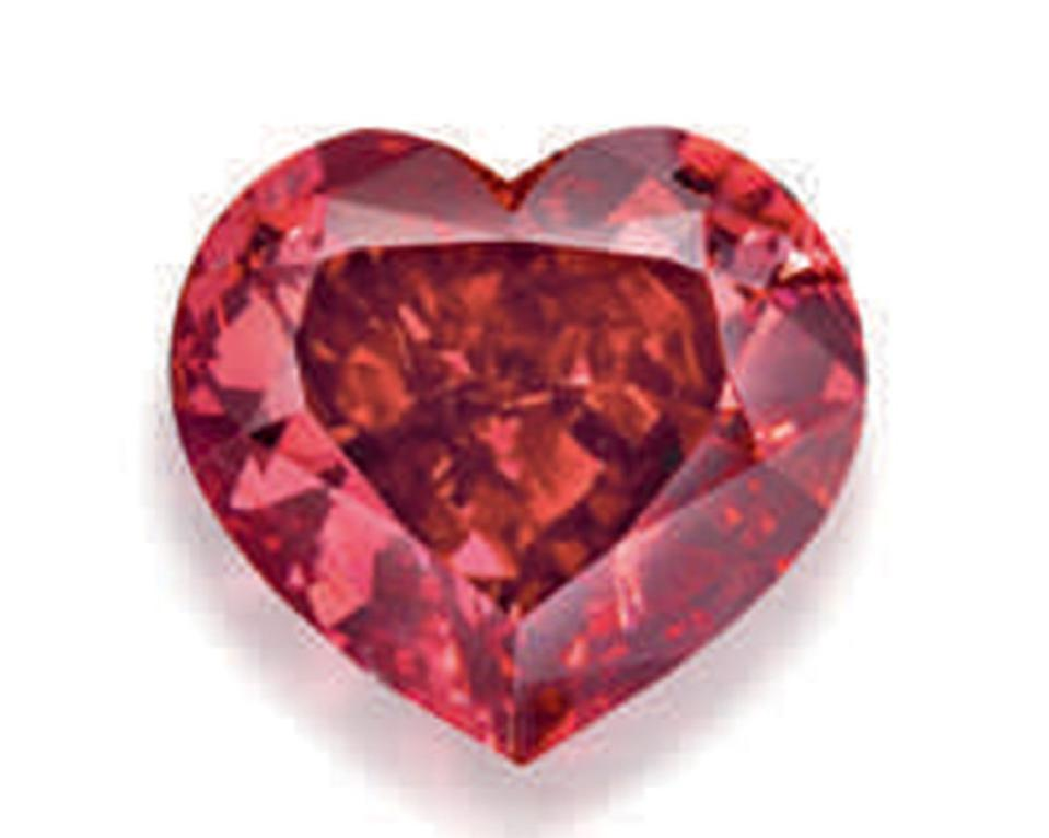 1.71-carat heart-shaped fancy red diamond with SI2 clarity fetched more than $3.1 million