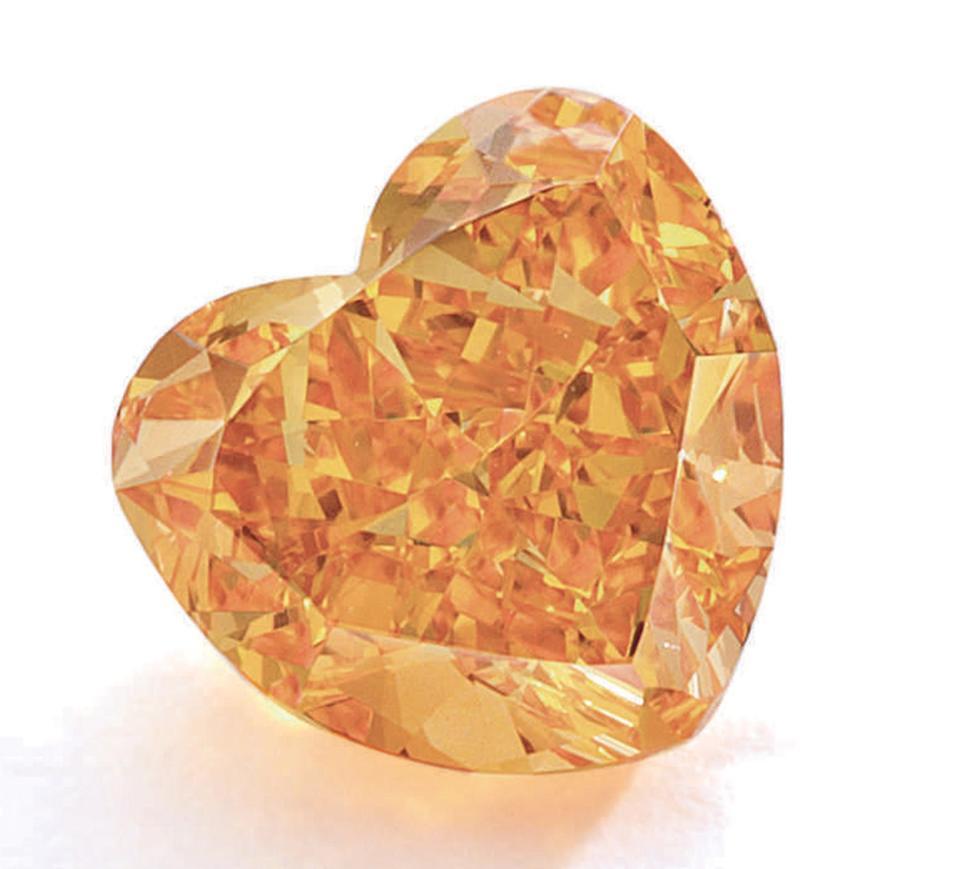 A 2-carat fancy vivid orange diamond fetched nearly $1.9 million