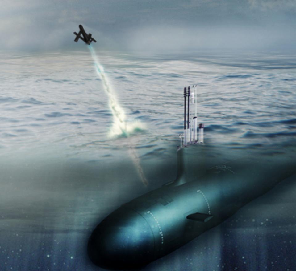 Submarine launching drone