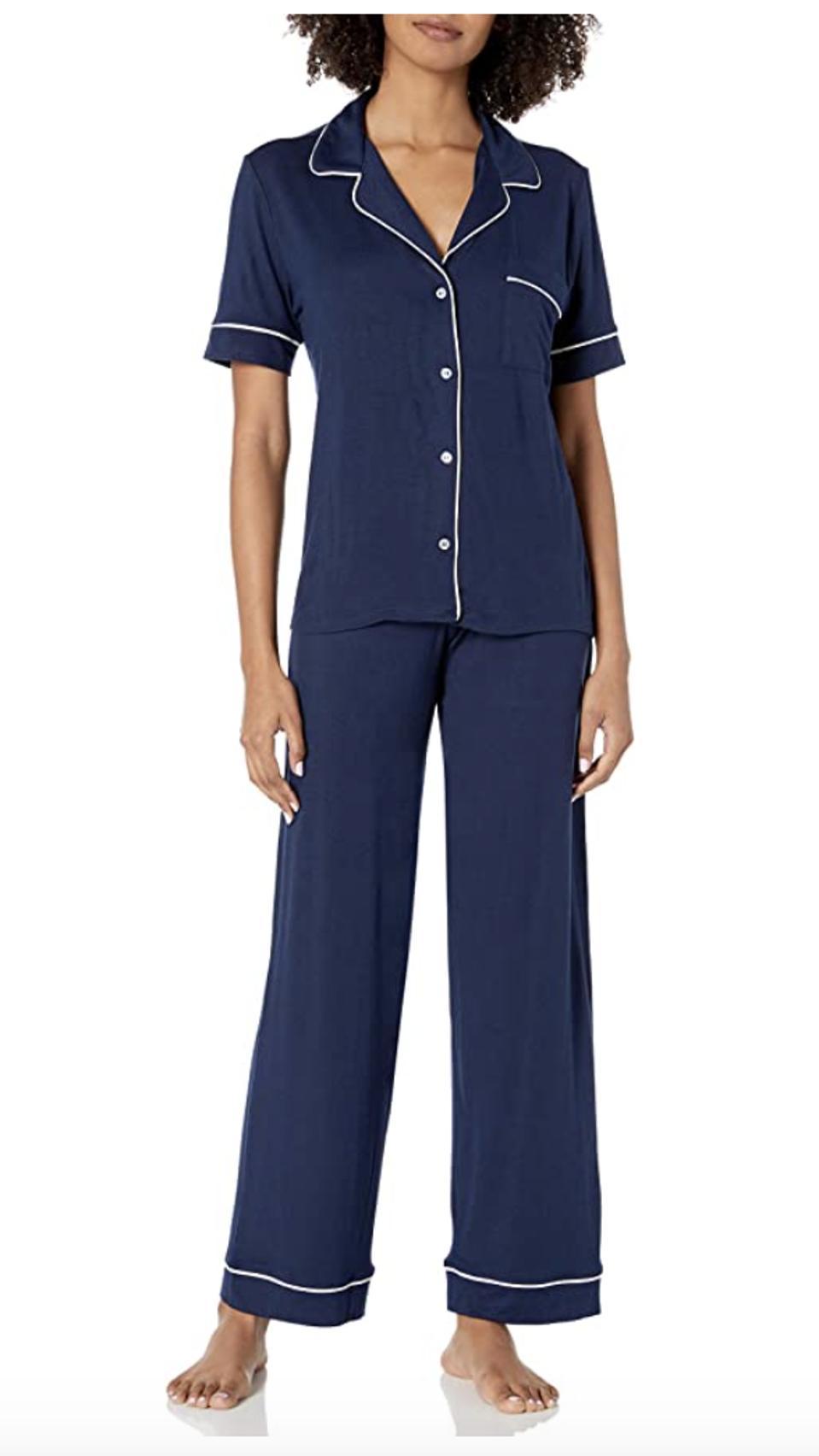Eberjey Gisele Short Sleeve And Pant PJ Set