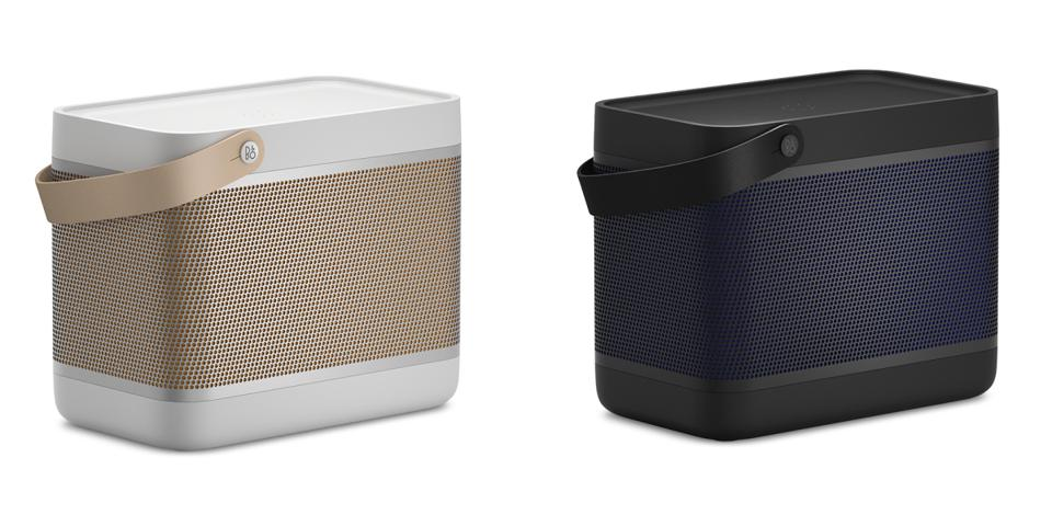 Bang & Olufsen Beolit 20 speakers in Grey Mist and Black Anthracite