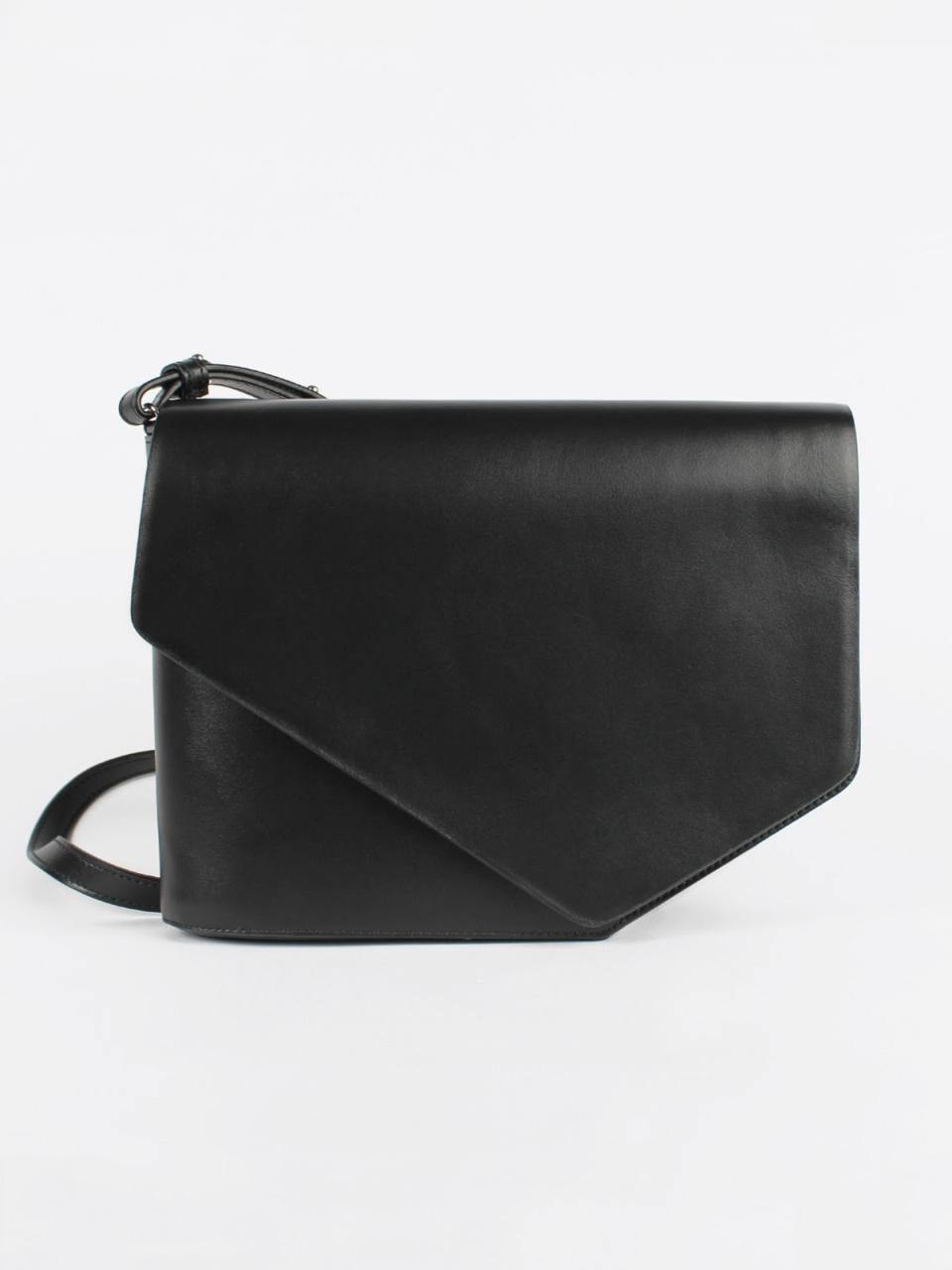 Christian Wijnants Arjana Bag 100% Bovine Leather in the Color Black