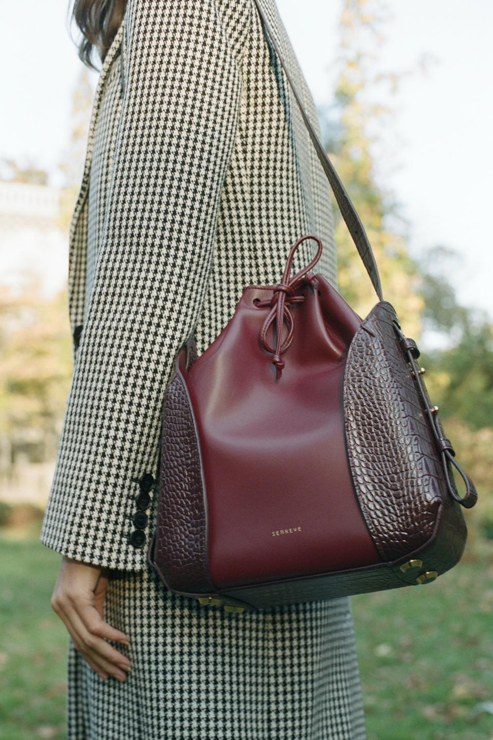Blue Leather Bag,Cloud Leather Tote bag Handmade Leather Purse leather bag