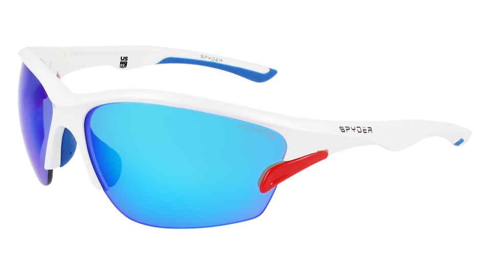 """The Spyder SP6013 sunglasses in the """"101 snow"""" colorway"""