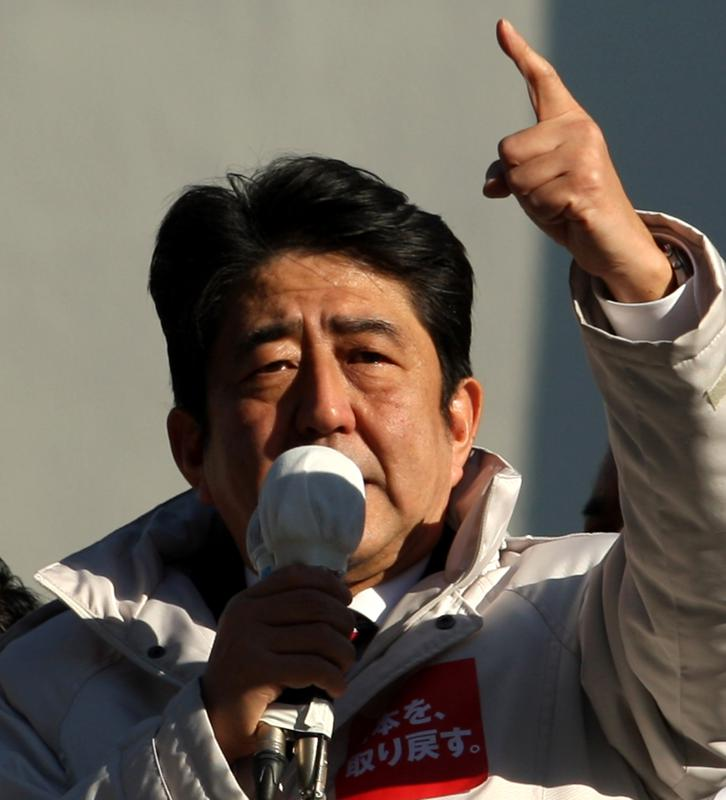 16 Dec 2012: Shinzo Abe on the campaign trail in 2012, in what would lead to a decade dominating Japanese politics that would eventually cast a shadow over the Wakashio oil spill in Mauritius
