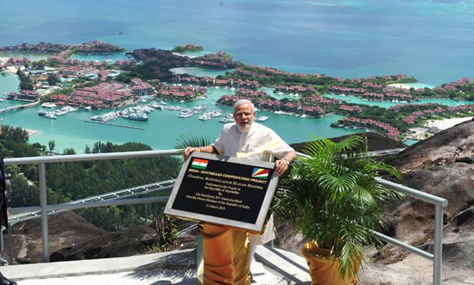 11 Mar 2015: India Prime Minister opening a radar station on Seychelles
