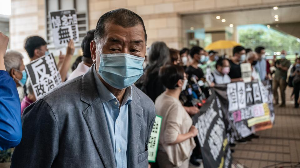 Hong Kong Pro Democracy Supporters Attend Unauthorised Assembly Court Hearing