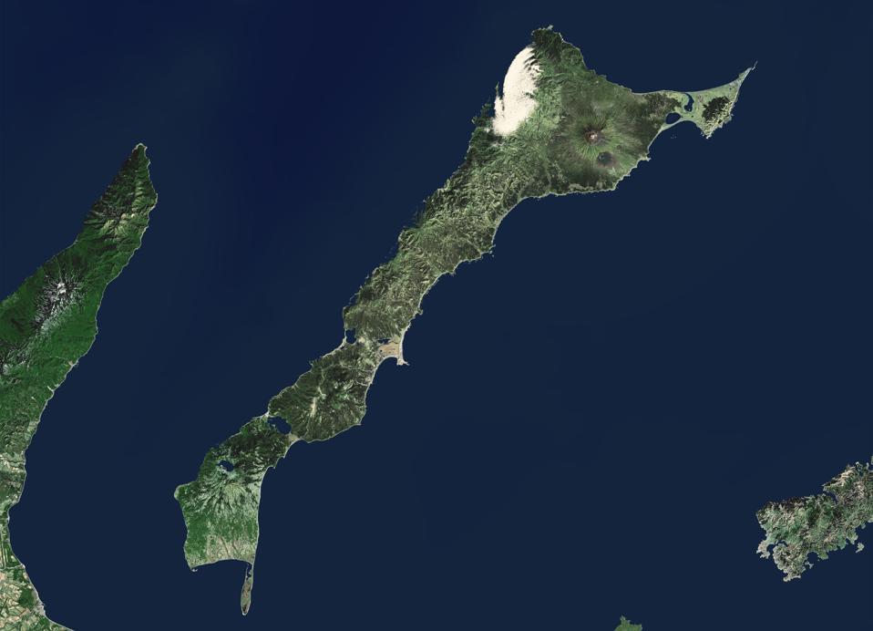 The disputed Kunashiri Island that both Russia and Japan claim