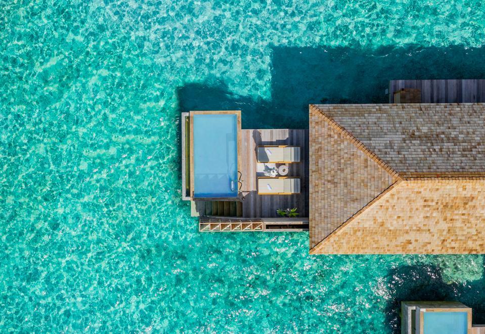 One of the ocean pool villas at the new Kagi Maldives Spa Island resort.