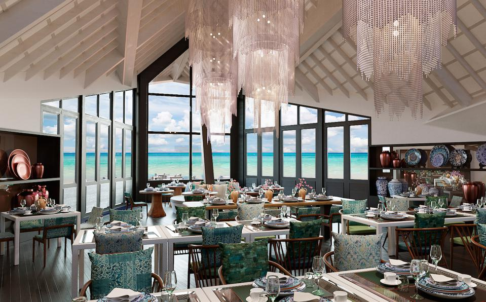 Restaurant Vista del Mar at Ozen Reserve Bolifushi.